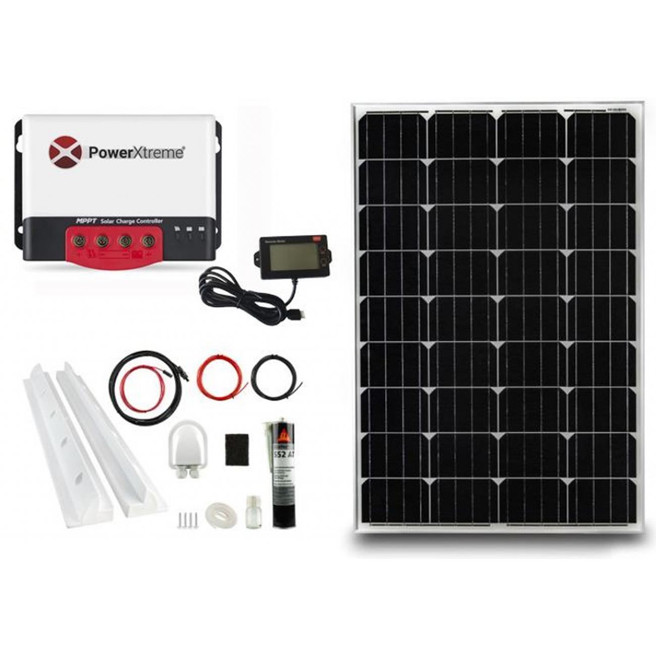 MPPT Solar Laderegler PowerXtreme XS20s Mit Display 130W Paket